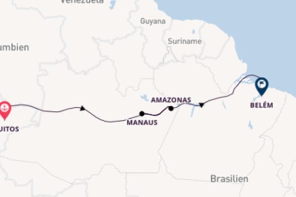 Faszinierendes Abenteuer Amazonas in 21 Tagen