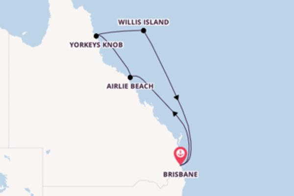 Sailing from Brisbane via Yorkeys Knob