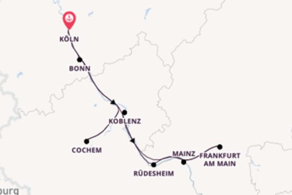 Von Köln über Frankfurt am Main in 5 Tagen