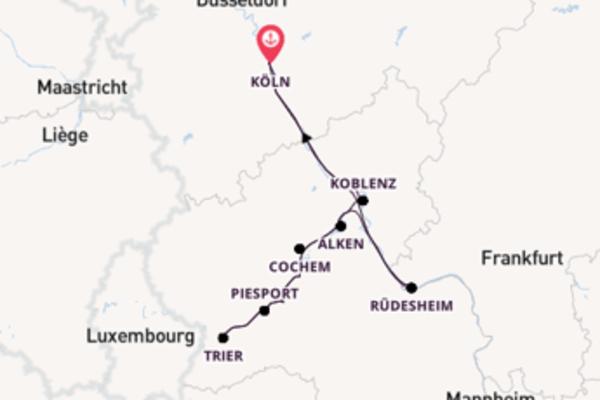 Köln, Deutschland und Rüdesheim, Deutschland erkunden