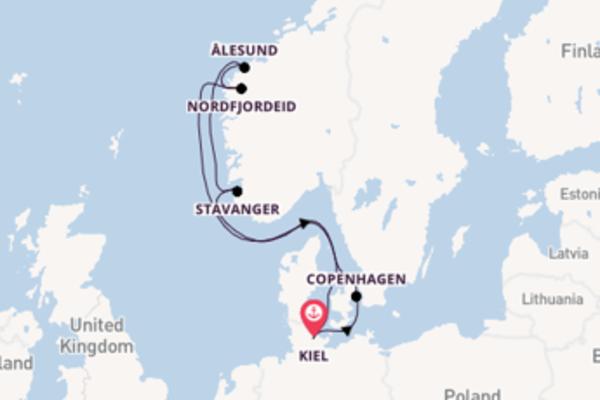 Lasciati conquistare da Nordfjordeid partendo da Kiel