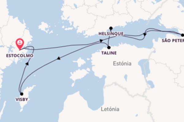 Navegando a bordo do Adventure of the Seas por 8 dias
