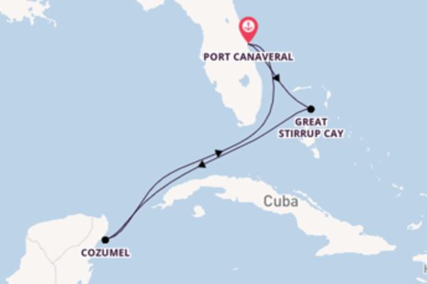 Magnifique balade pour découvrir Great Stirrup Cay