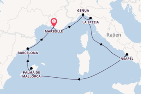 Traumhafte Reise ab Marseille