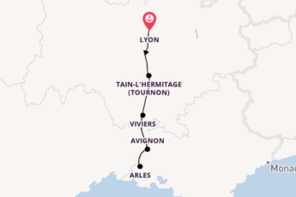 6 Tägige Rundreise ab Lyon mit der MS Swiss Emerald