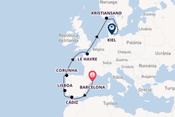 Jornada de 12 dias até Kiel com o Costa Diadema