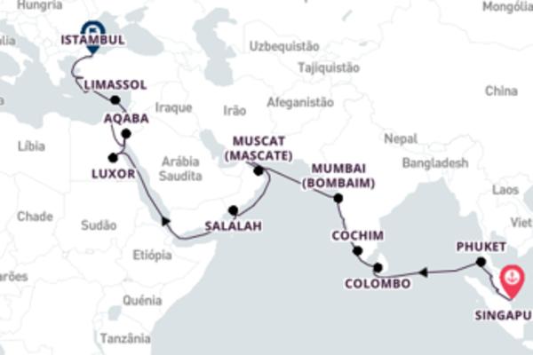 Relaxe 38 dias a bordo do Seven Seas Explorer