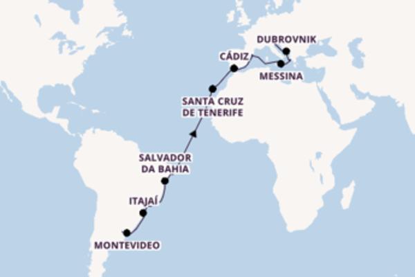 Cruise naar Venetië via Salvador da Bahia