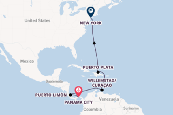 Cruise from Panama City with the Norwegian Gem