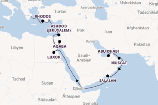 Kreuzfahrt mit Sirena von Dubai nach Piräus (Athen)