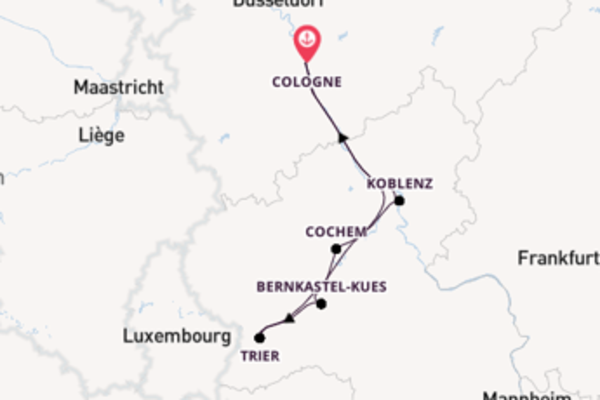 6 day voyage from Cologne