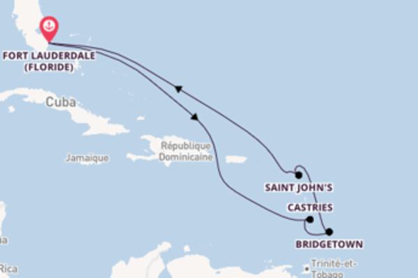 Bridgetown depuis Fort Lauderdale (Floride) pour une croisière de 11 jours