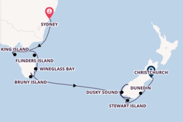 Tasmanien und die Fjorde Neuseelands