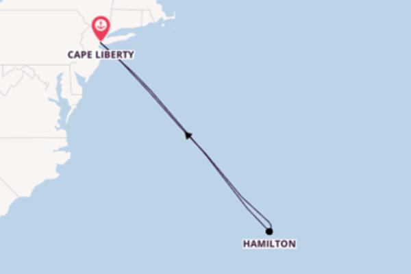 Scopri Hamilton arrivando a Cape Liberty