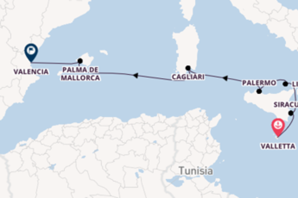 Sailing with Sea Cloud Cruises from Valletta to Valencia