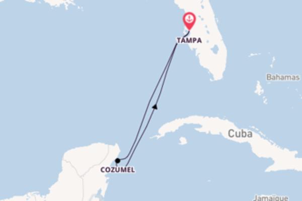 5 jours pour découvrir Cozumel à bord du bateau Carnival Paradise