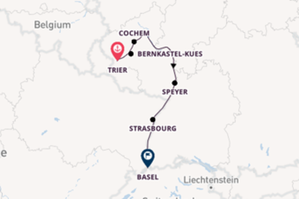 Cruising from Trier to Basel