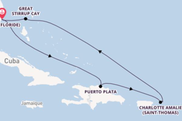 Joyeuse virée de 8 jours depuis Miami (Floride)