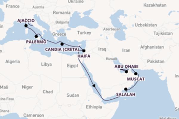 25 giorni di crociera fino a Doha