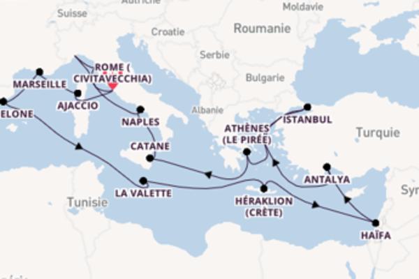 23 jours pour découvrir Marseille à bord du beateau Costa Luminosa