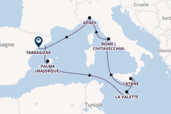 Explorez à bord du bateau Costa Pacifica, la destination: Palma (Majorque)