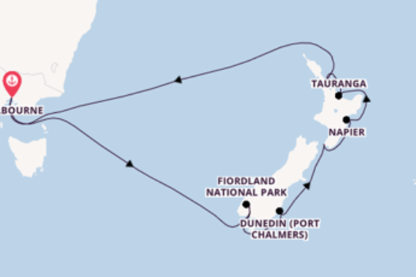 14 day expedition on board the Sapphire Princess from Melbourne