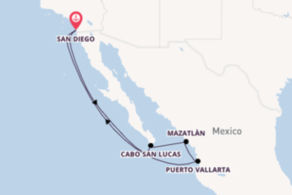 Sail with the ms Koningsdam from San Diego, California
