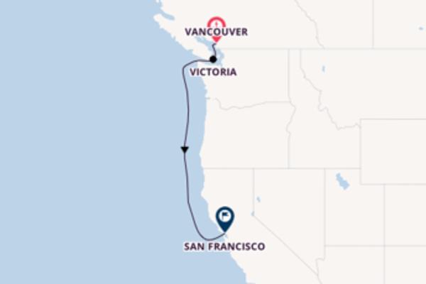 In 4 Tagen nach San Francisco über Victoria