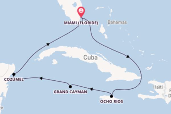 7 jours pour découvrir Cozumel au départ de Miami