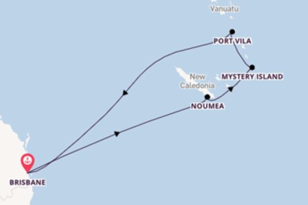 Cruise naar Brisbane via Noumea