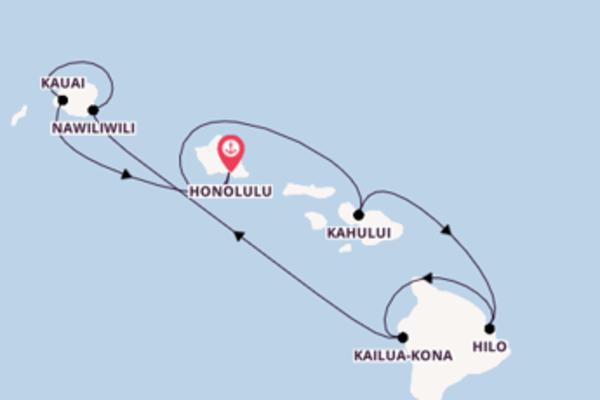 Geniet van een 8-daagse cruise naar Hawaii