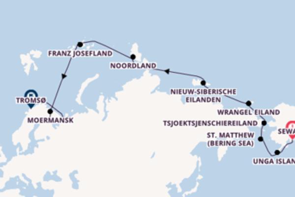 31-daagse cruise met de HANSEATIC inspiration vanuit Seward, Alaska