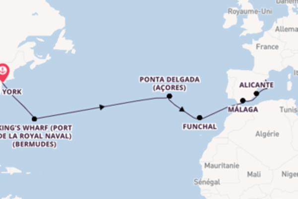 15 jours de navigation à bord du bateau Norwegian Epic vers Barcelone