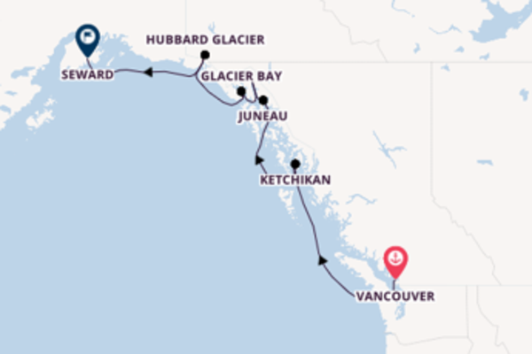 Expedition from Vancouver to Seward via Inside Passage