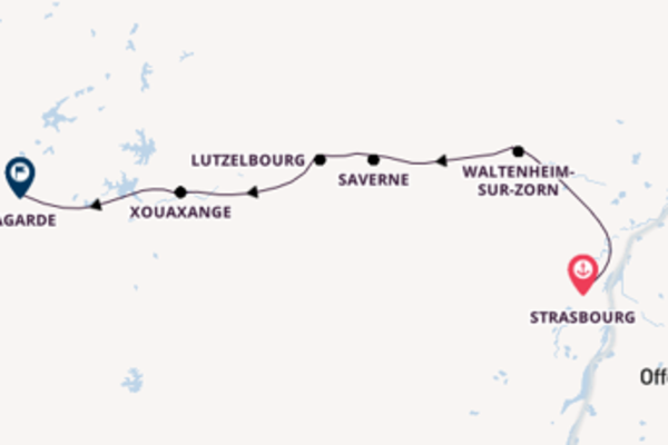 Cruising from Strasbourg to Lagarde