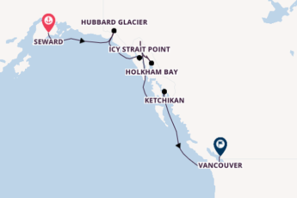 Cruising from Seward to Vancouver