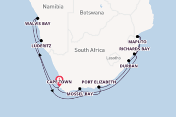 Cruising from Cape Town with the Seven Seas Voyager