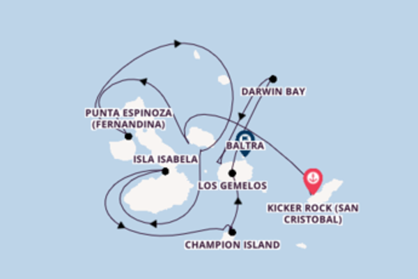 Sailing with Silversea from Kicker Rock (San Cristobal) to Baltra