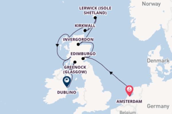 Prendere il largo verso Dublino da Amsterdam