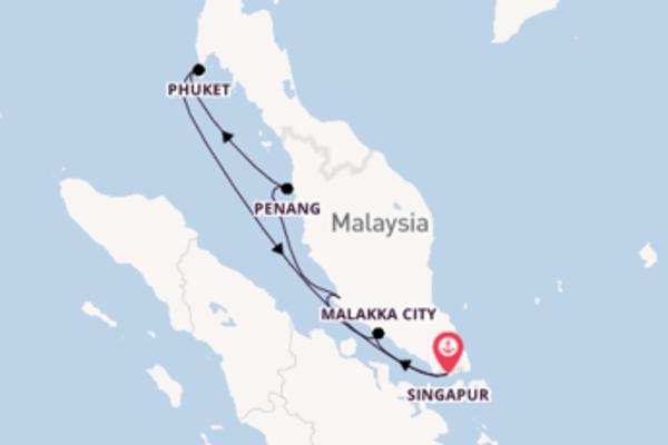 Singapur und Malakka City genießen