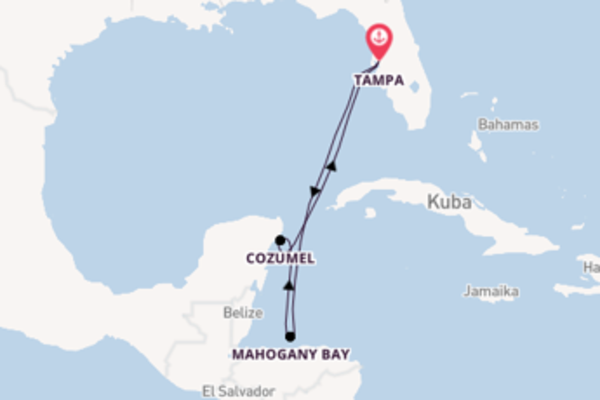 In 6 Tagen nach Tampa über Mahogany Bay