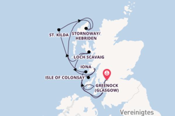 11 Tage Britische Inseln Kreuzfahrt