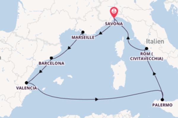 In 8 Tagen nach Savona über Barcelona