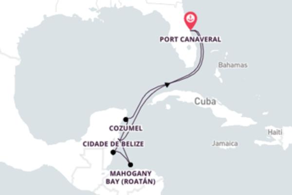 Férias incríveis em Belize e Costa Maya