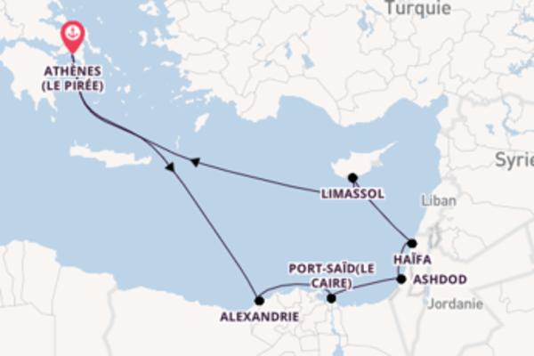Ashdod depuis Athènes (Le Pirée) pour une croisière de 12 jours