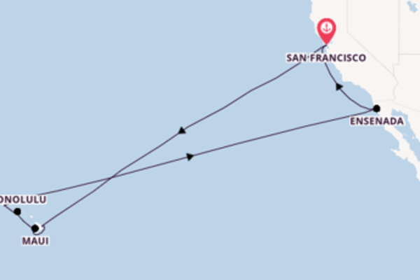 16 day trip on board the Ruby Princess from San Francisco