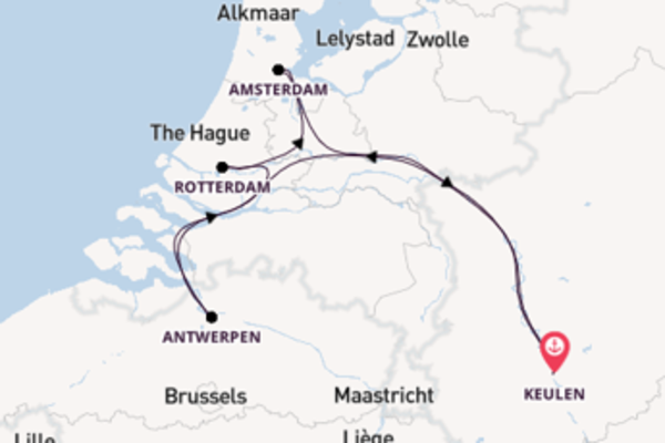 Ontdek Rotterdam, Amsterdam en Antwerpen vanuit Keulen