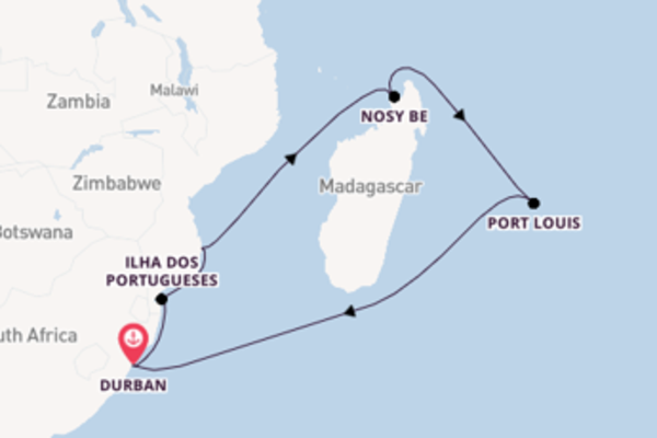 15 day trip from Durban