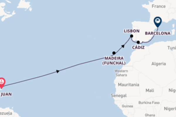 15 day cruise with the Norwegian Epic to Barcelona