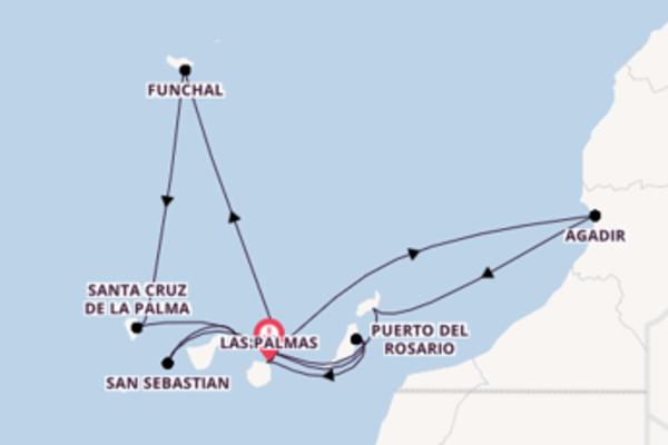 Erkunden Sie 15 Tage Agadir und Las Palmas